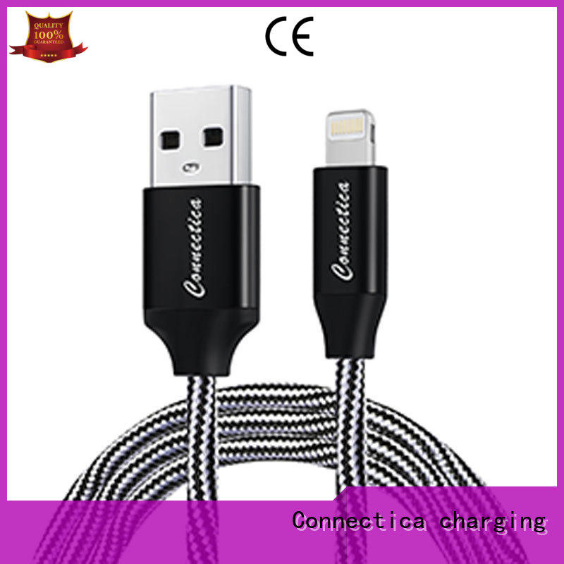 Connectica charging aluminum usb cable with multiple ends conn for sale
