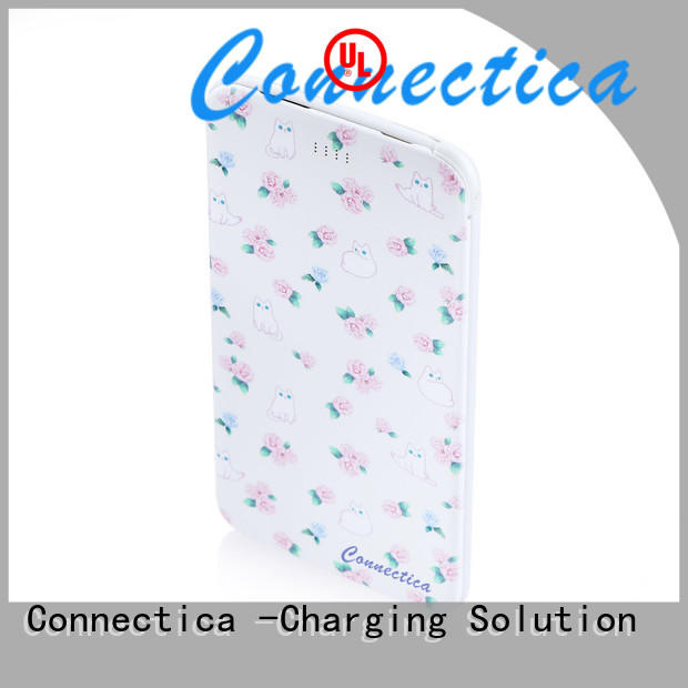 Connectica excellent slim power bank with charging dock for mobile phone