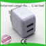 molding cum 2 port usb wall charger flame Connectica charger company