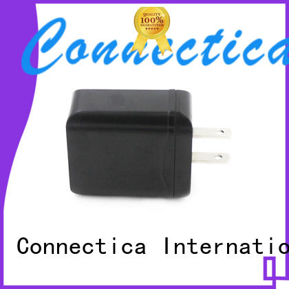 Connectica charger Brand ressistant flame custom 2 port usb wall charger