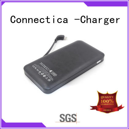 Connectica charger Brand suede notepad portable power bank manufacture