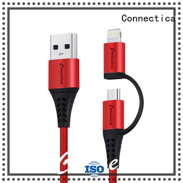 Connectica usb a port to usb type c with molding for android phone