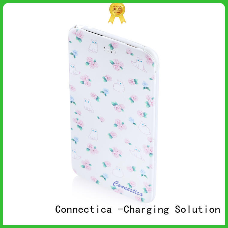 power card wallet phone power bank hot sale with bulit in a lightning for mobile phone