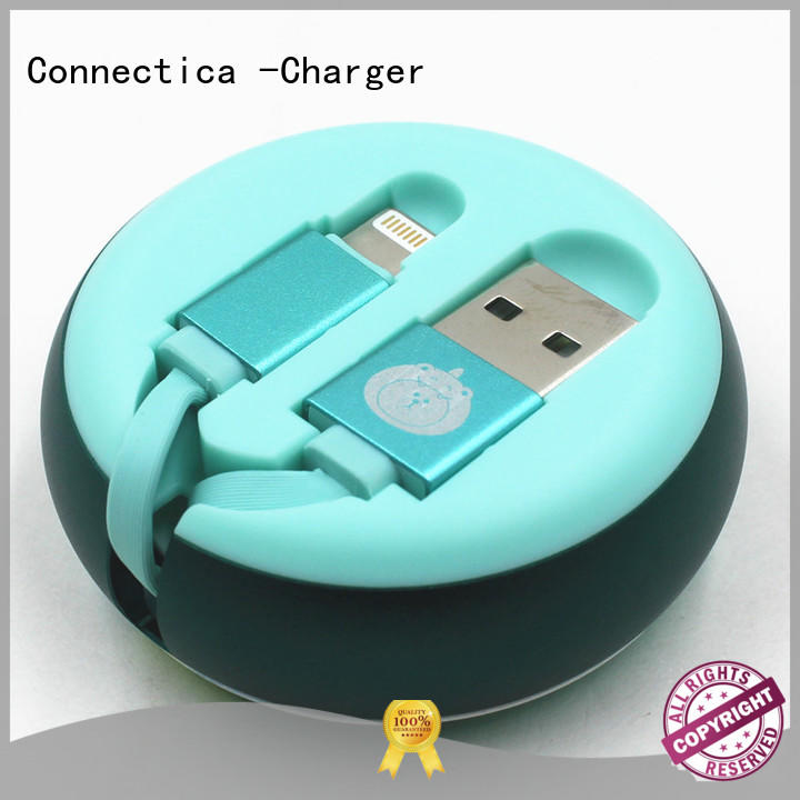 Connectica charger nylon micro usb charging cable conn for sale