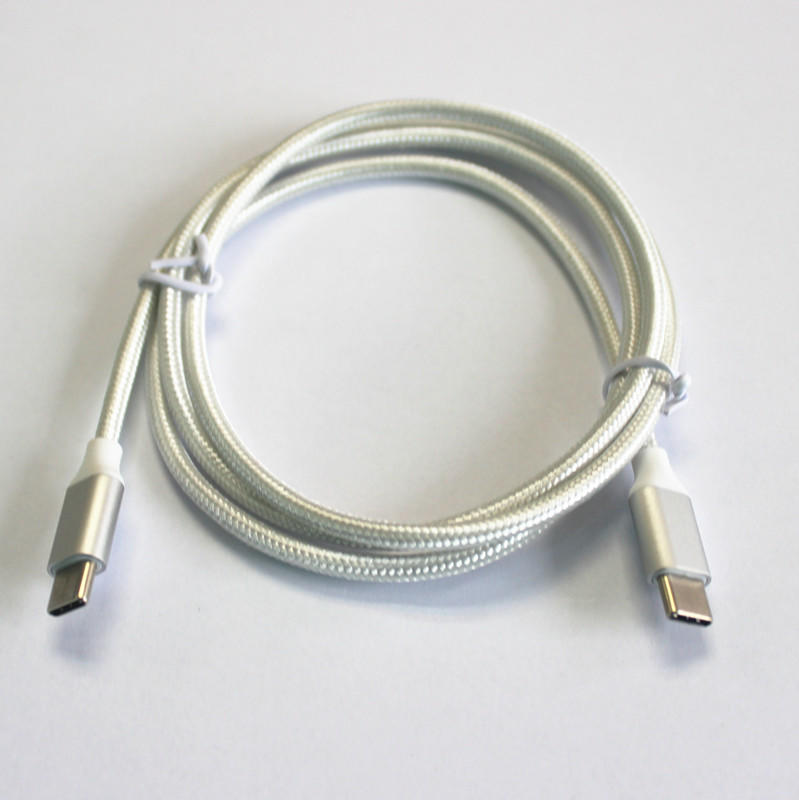 USB Type-C Connector to USB Type-C Connector Braided/PVC &PET Data/Charging Cable