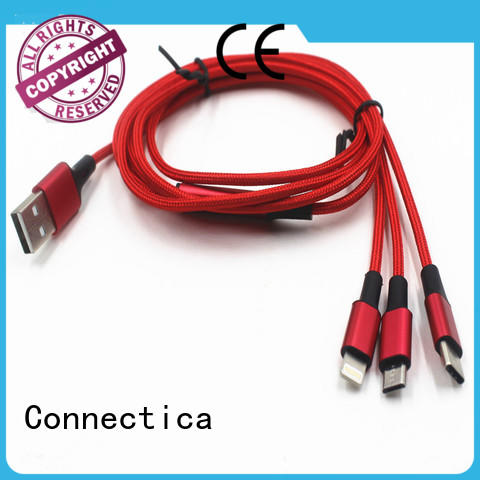 Connectica nylon usb to lightning cable with a usb Micro connector for android phone