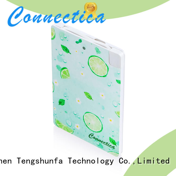 Connectica charging aluminum phone power bank with pd and qc for mobile phone