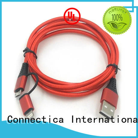 Connectica charger Brand certification certified datacharging charging cable