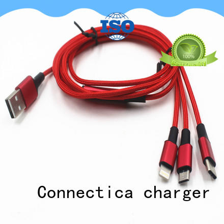 Connectica charger nylon type c usb cable with a usb Micro connector for sale