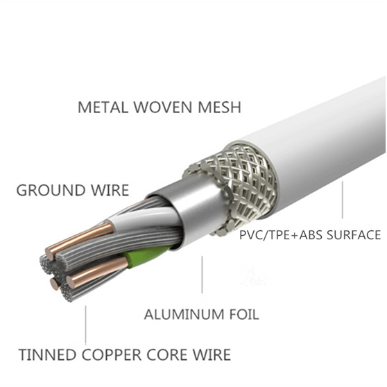 Connectica braided charging cable with molding-2