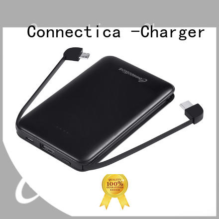 Connectica charger aluminum portable wireless charger power bank high quality for abc and pc flame retardant