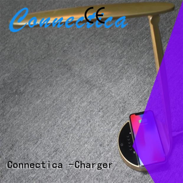 Connectica charger Brand light plate mini pu charging pad