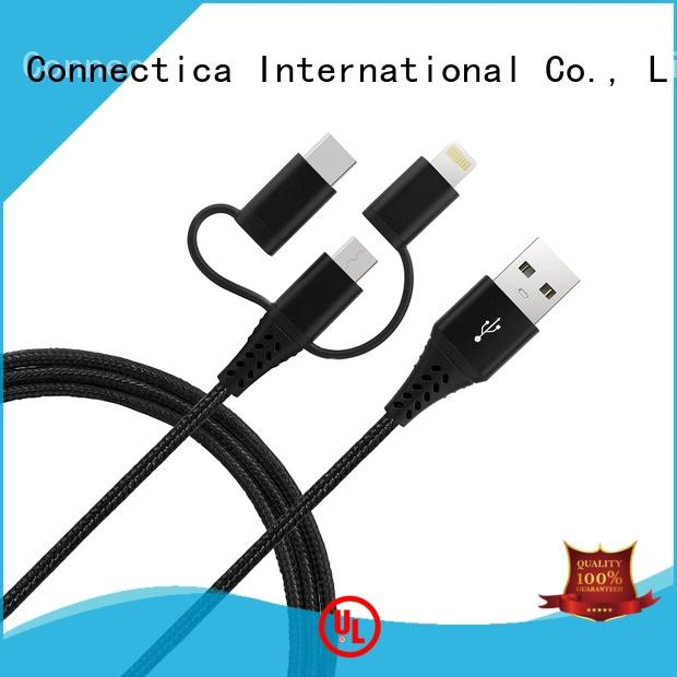 Connectica charger house mfi lightning cable with magnetic lightning