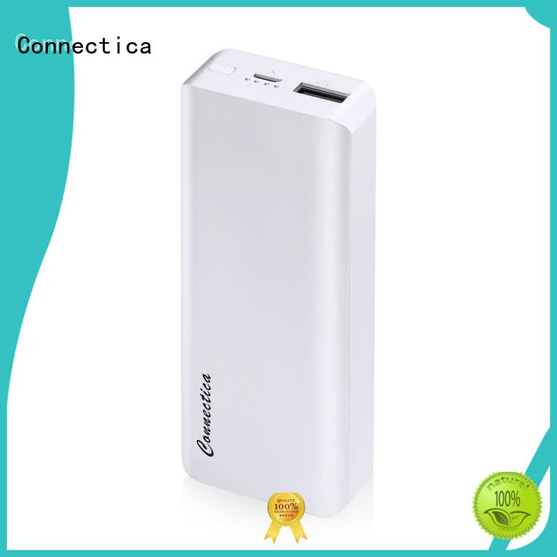 Connectica High-quality wireless charging power bank with usb type c cable for travelling
