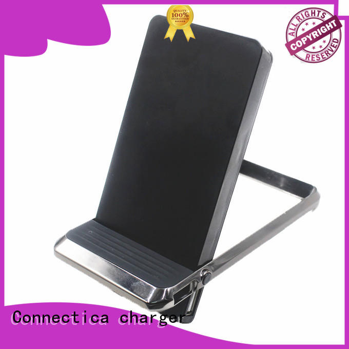Connectica charger suede pad usb power bank with usb type c cable for working