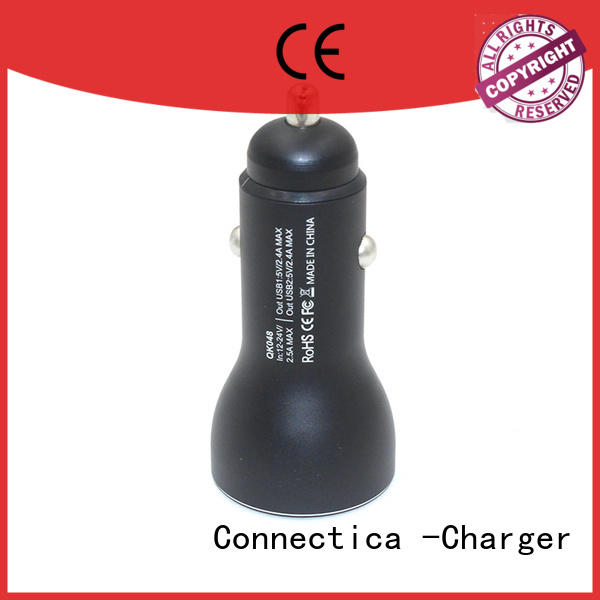 flame shape Connectica charger Brand best car charger