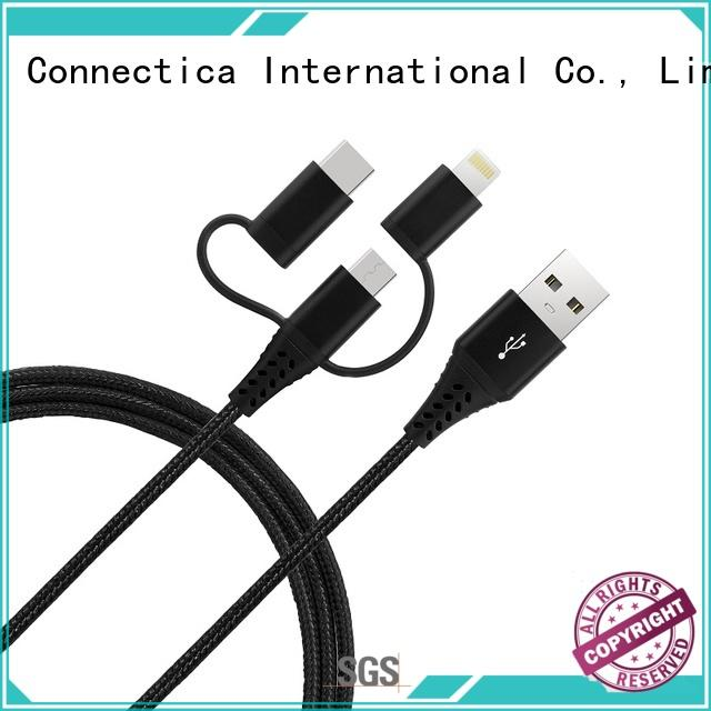 mfi multi charger cable pvc for android phone Connectica charger