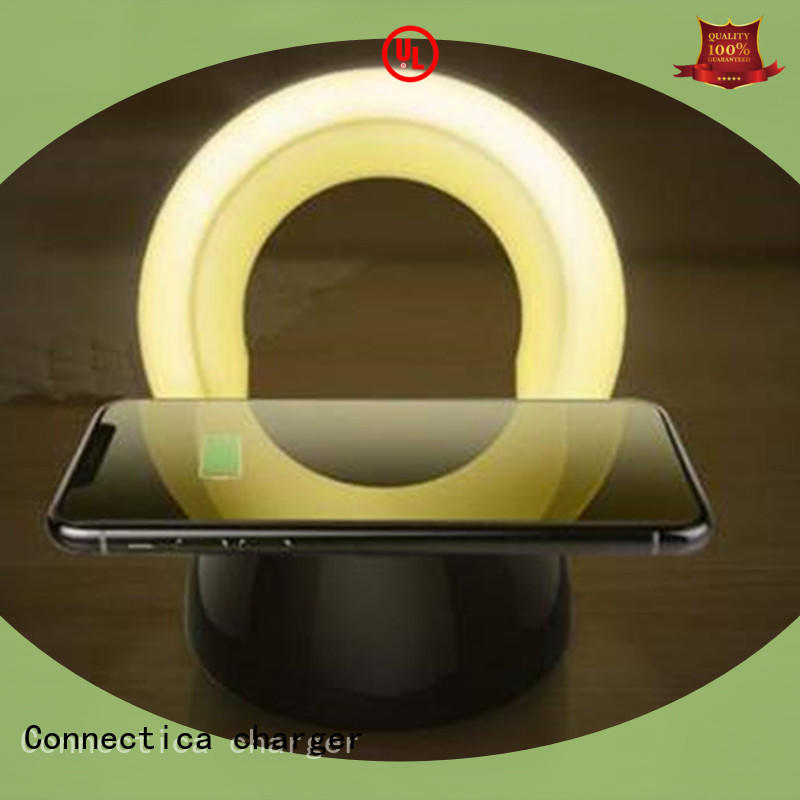 oval wireless battery charger with customize face plate and shape for pc
