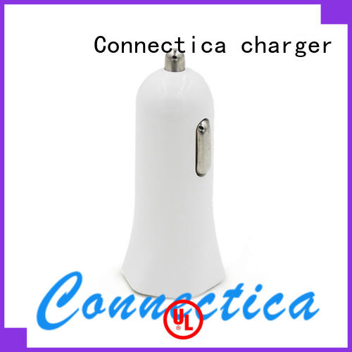 pd in car charger with two different output ports for mobile