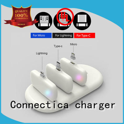 power bank manufacturer builtin suede charging Connectica charger Brand company