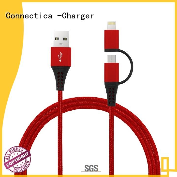 2 in 1 Connector MFi Data/Charging Nylon Braided Cable