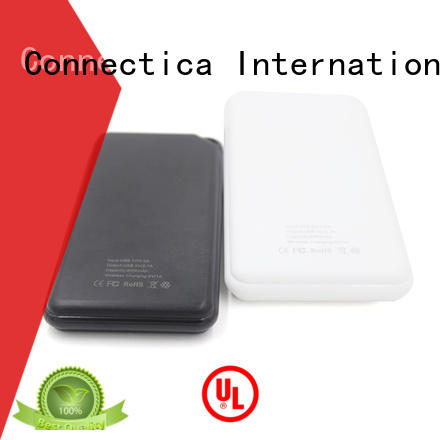 suede portable power bank flame card Connectica charger company