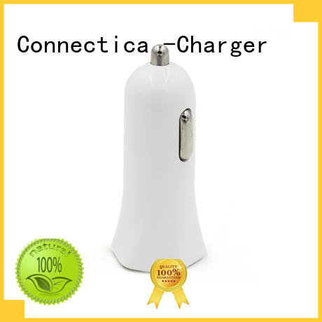 safety metal OEM car charger adapter Connectica charger