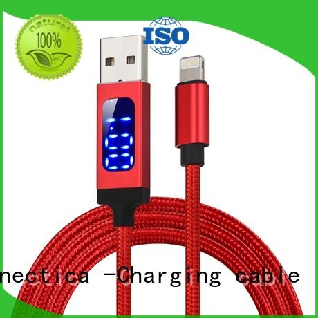 Connectica charging mfi micro usb charging cable with molding for android phone