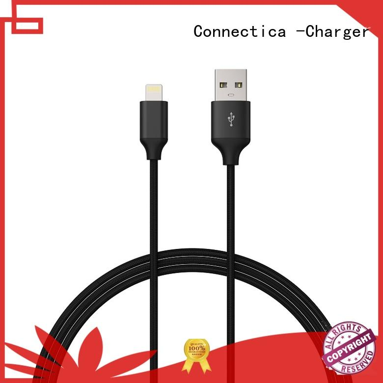 Connectica charger aluminum multi charger cable with molding for the game