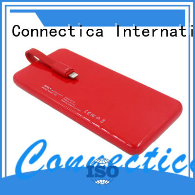 Wholesale dock power bank manufacturer builtin Connectica charger Brand