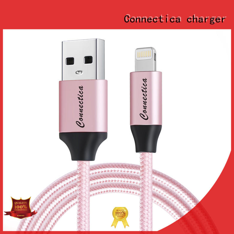 Connectica charger braided micro usb charging cable with magnetic lightning for the game