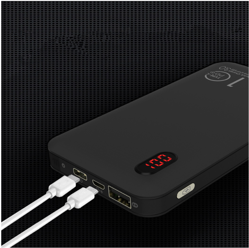 Built-in 2 in 1 Connectors Portable Charger with PD & QC 3.0 CPC-0003-2