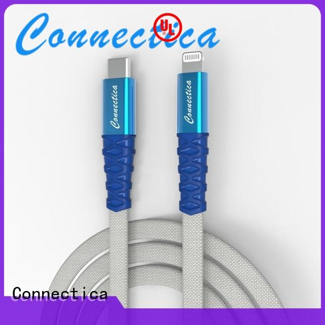 Connectica MFI type c to lightning manufacturer