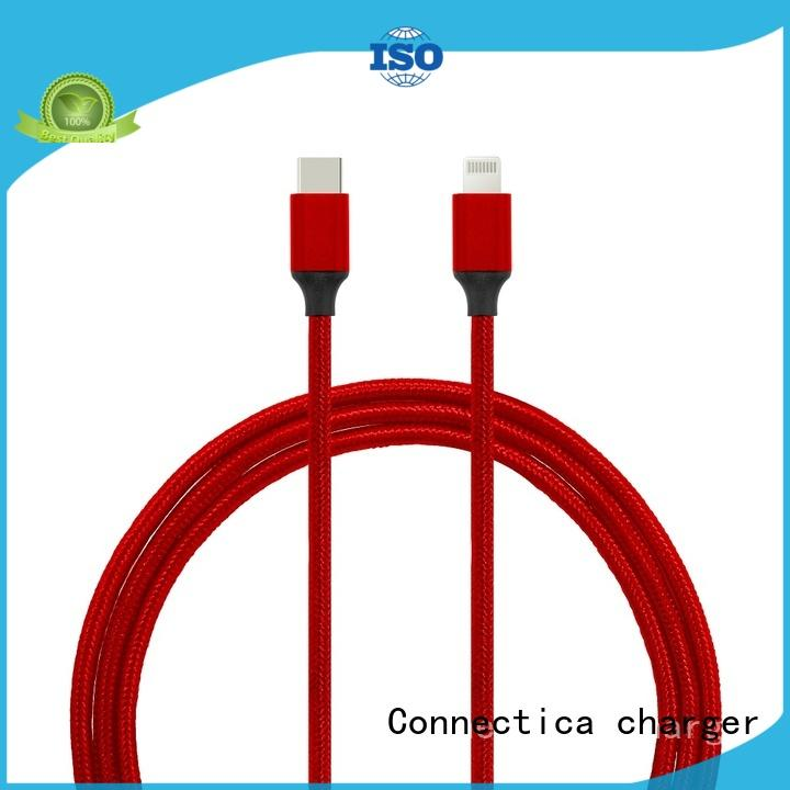 Connectica charger lightning oem charging cable mfi for android phone