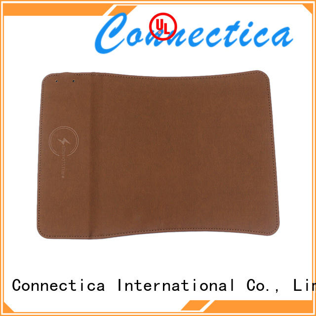 Connectica charger high quality wireless charging mat mousepad for pu