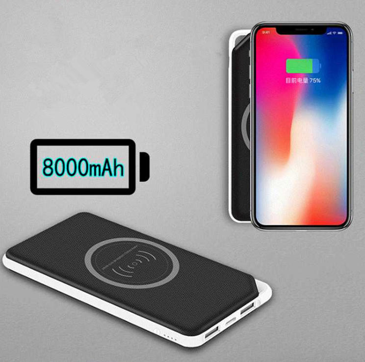 Connectica charging power card wallet cell phone power bank with rfid blocker for travelling-2