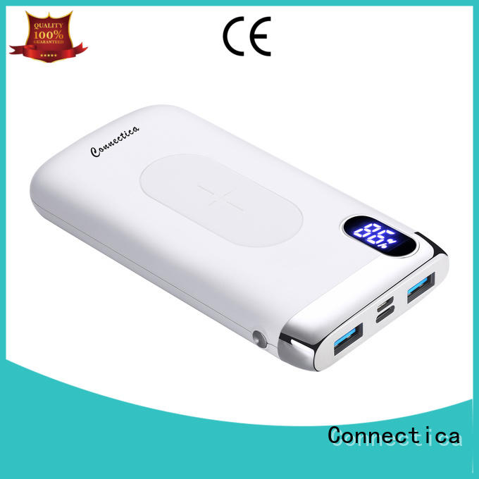 Connectica colorful power bank 12000mah factory for travelling