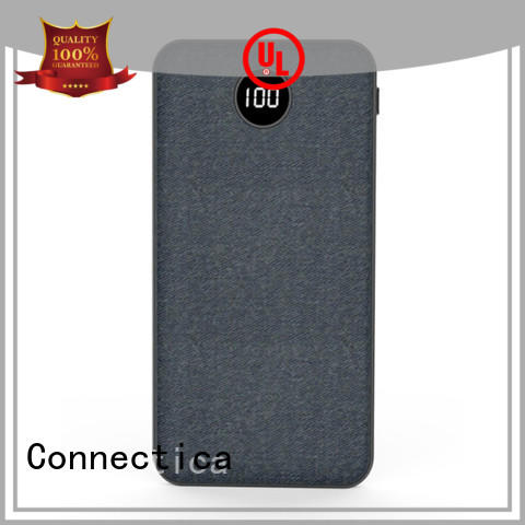 Connectica high quality wireless power bank with bulit in a lightning for travelling