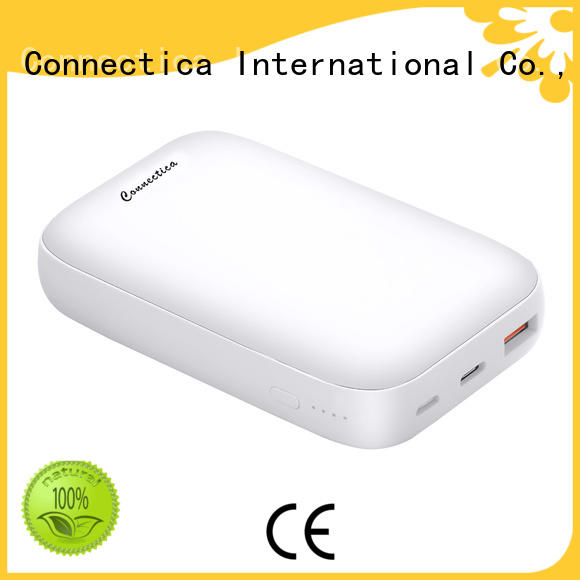 colorful Power Bank Supplier with charging dock for mobile phone Connectica charger