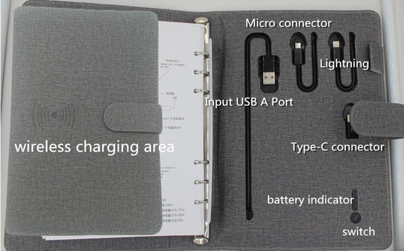 portable power bank high quality with wireless charging for mobile phone-1