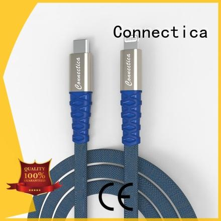 Connectica nylon cable iphone original manufacturer for the game