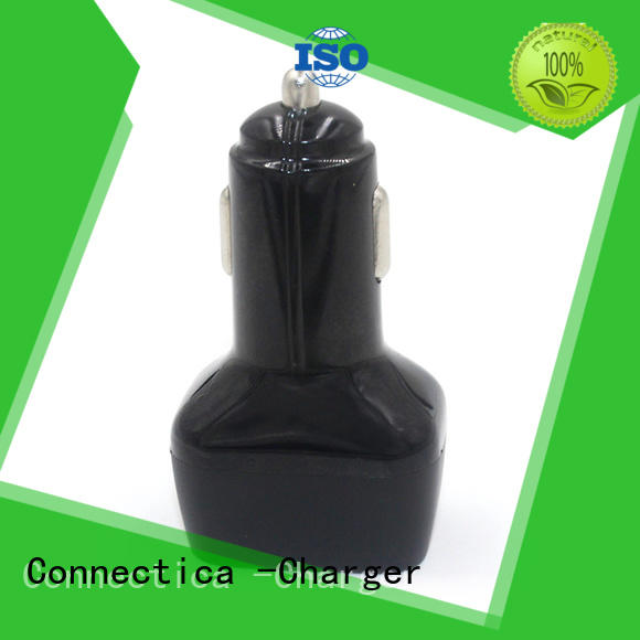 Wholesale plastic best car charger shape Connectica charger Brand
