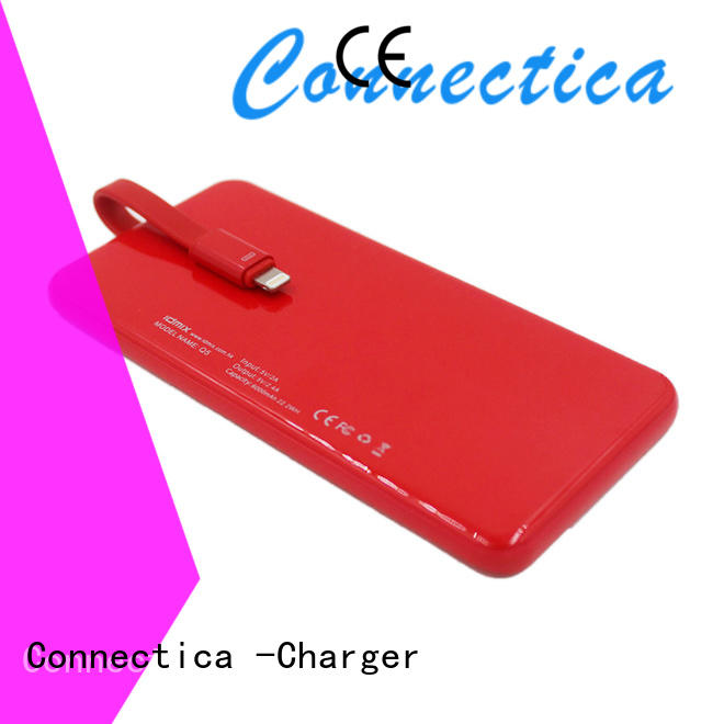 Hot wallet portable power bank charger wireless Connectica charger Brand
