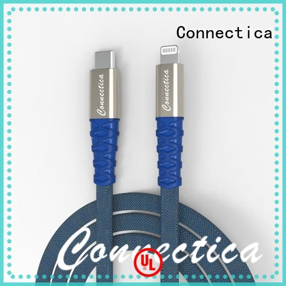 Connectica braided iphone charger cable with magnetic lightning for Iphone 6S